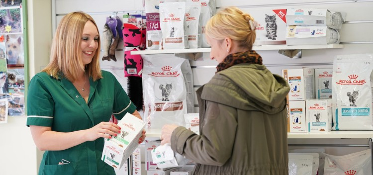 Order medication or food at Claygate Vets